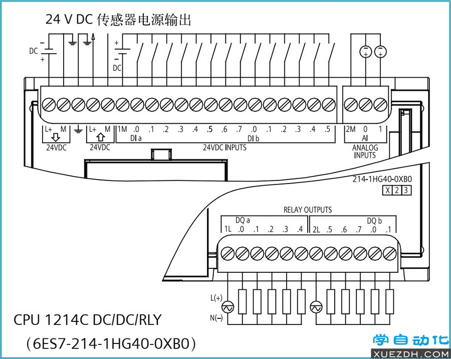 S7-1200 CPU模块接线图
