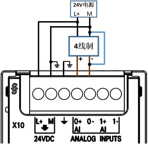 S7-200 SMART模拟量模块接线图